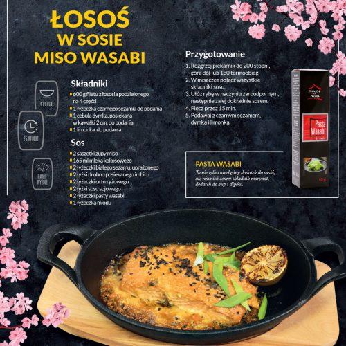Łosoś w sosie miso wasabi